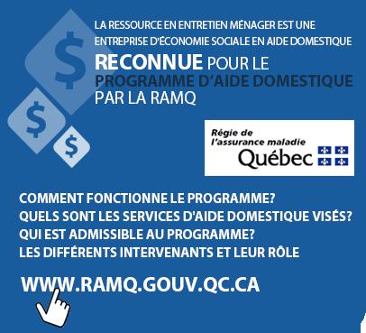 Programme d'aide domestique RAMQ